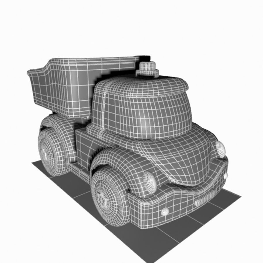 Toon Truck royalty-free 3d model - Preview no. 10