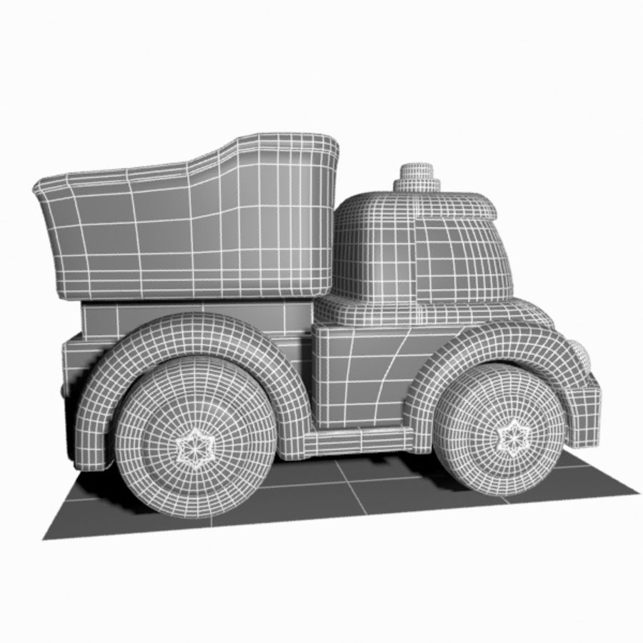 Toon Truck royalty-free 3d model - Preview no. 12