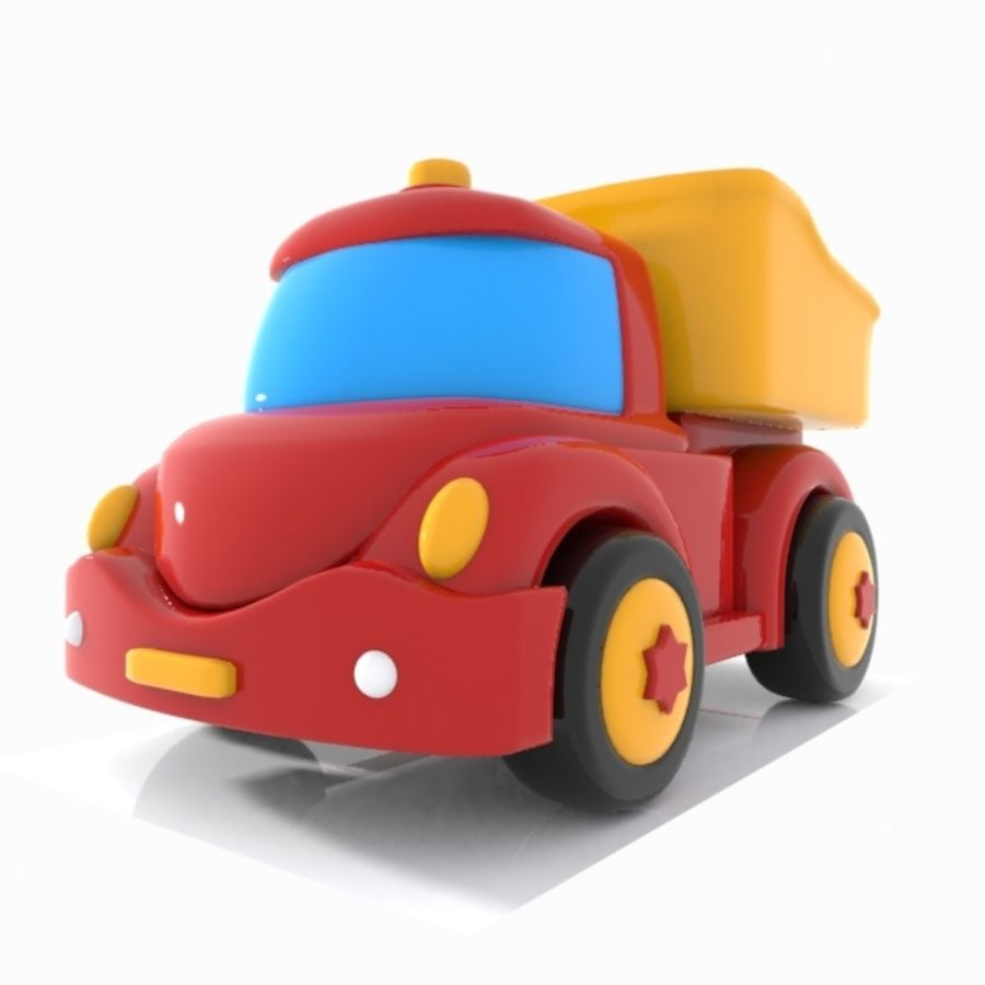 Toon Truck royalty-free 3d model - Preview no. 4