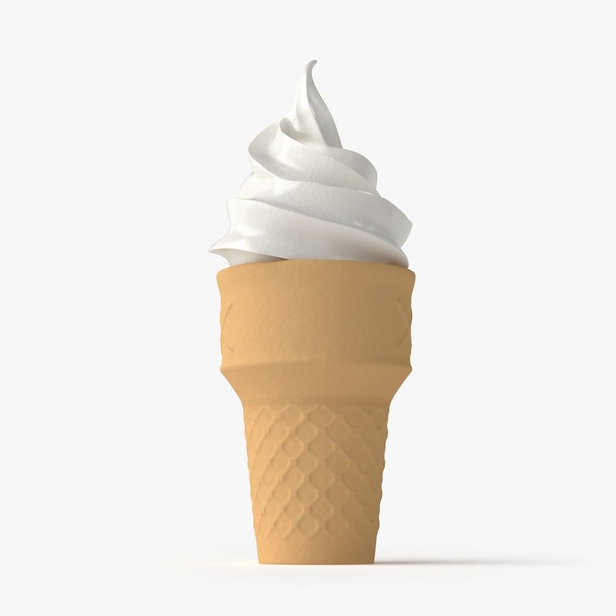 Ice Cream 2 royalty-free 3d model - Preview no. 4