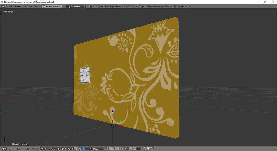 karta bankowa royalty-free 3d model - Preview no. 4