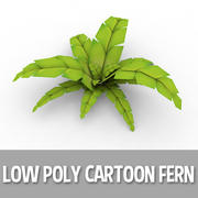 Cartoon Fern (laag poly) 3d model