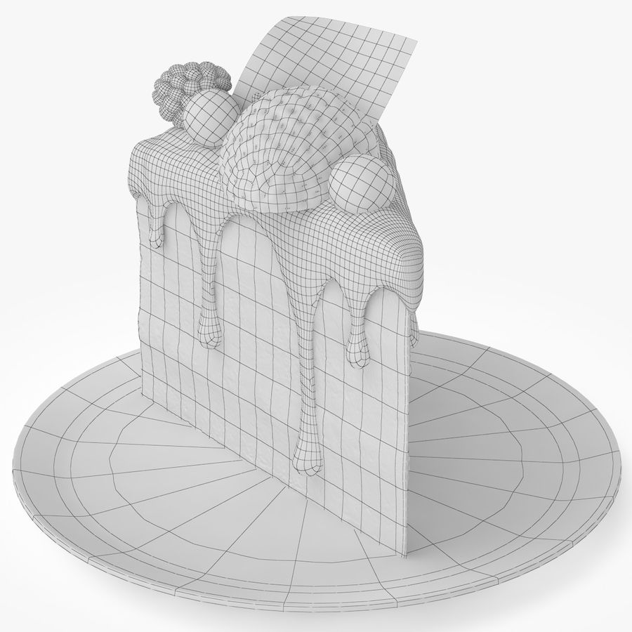 Cake Piece royalty-free 3d model - Preview no. 6