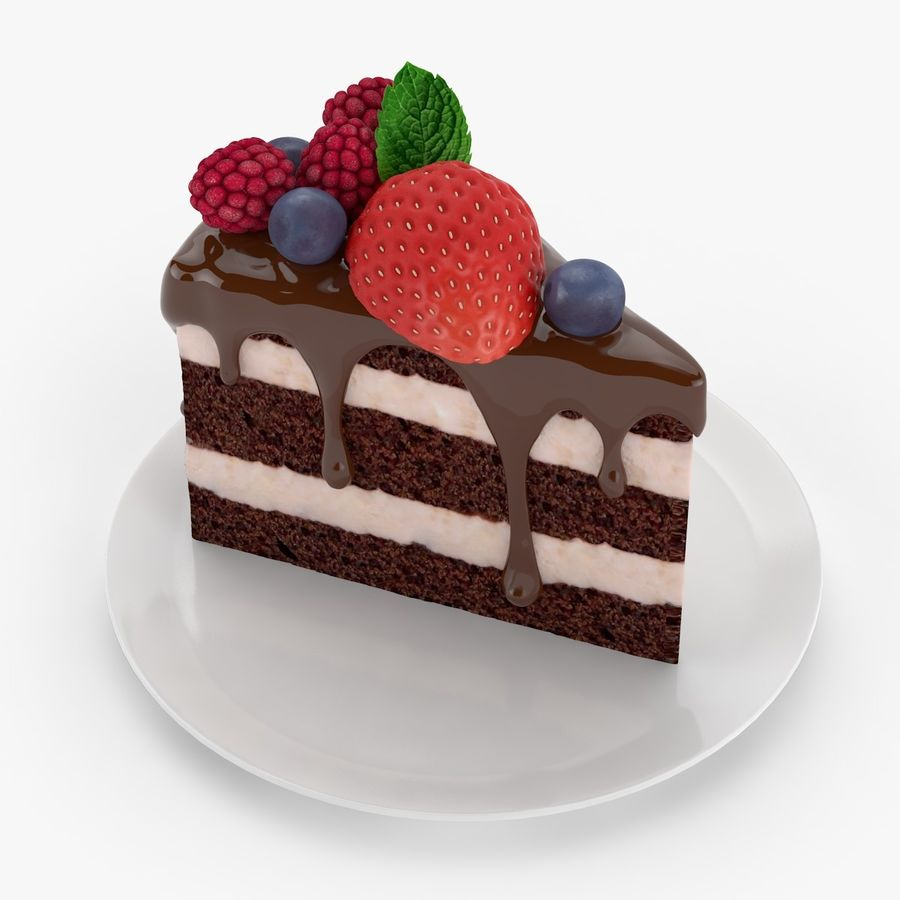 Cake Piece royalty-free 3d model - Preview no. 1