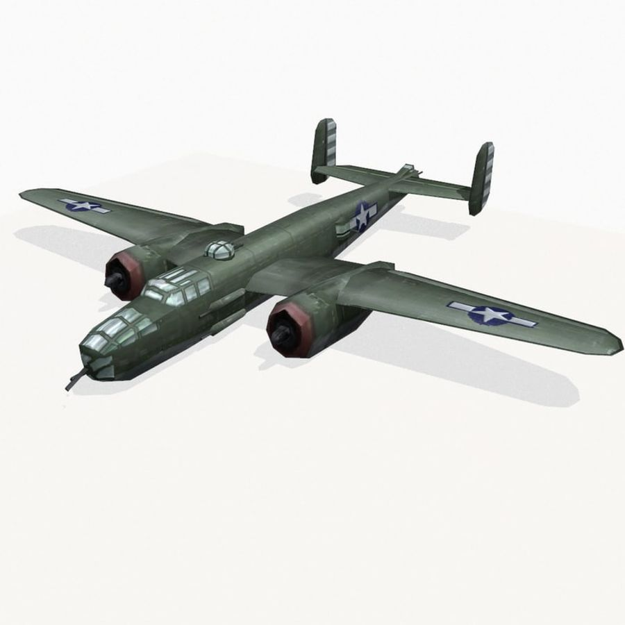 B-25 Mitchell royalty-free 3d model - Preview no. 2