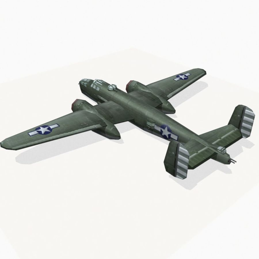 B-25 Mitchell royalty-free 3d model - Preview no. 4