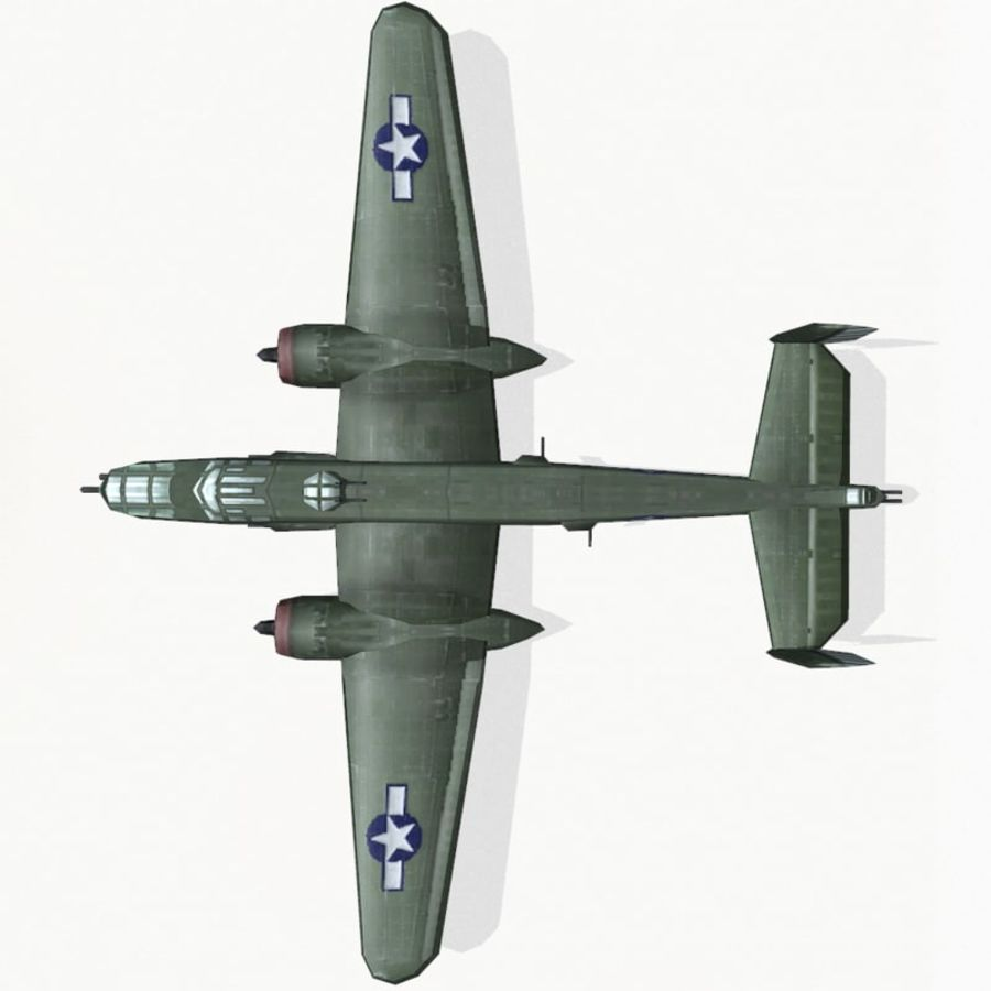 B-25 Mitchell royalty-free 3d model - Preview no. 10