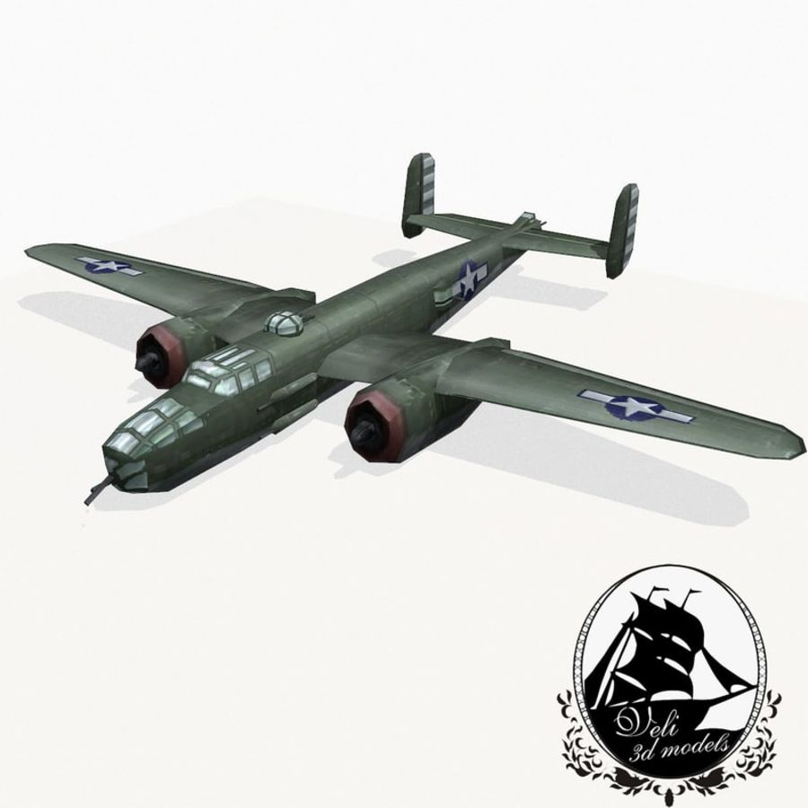 B-25 Mitchell royalty-free 3d model - Preview no. 1