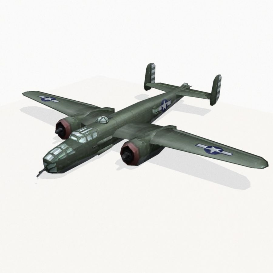 B-25 Mitchell royalty-free 3d model - Preview no. 7