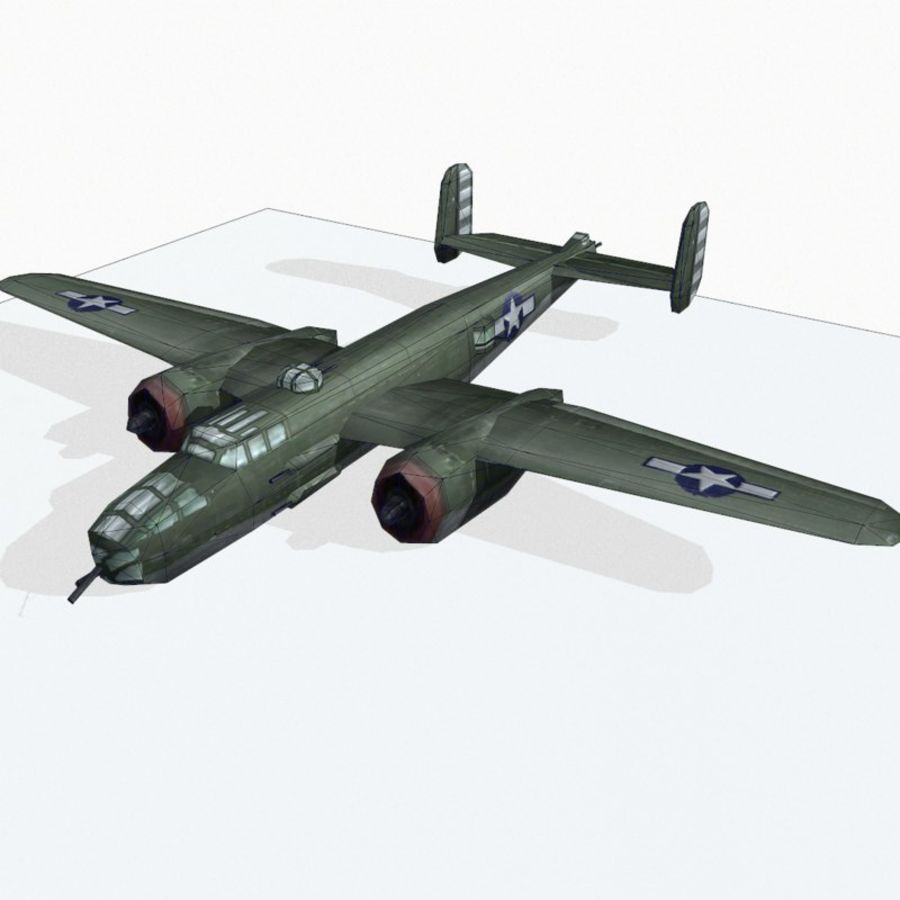 B-25 Mitchell royalty-free 3d model - Preview no. 11