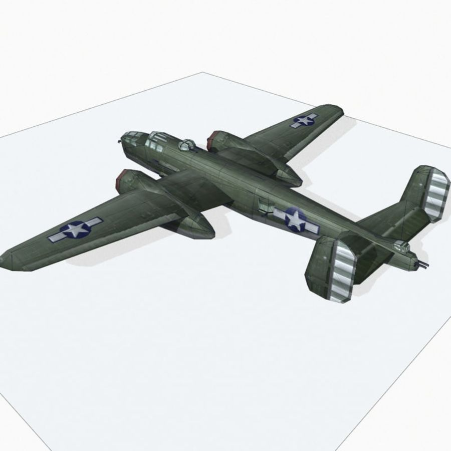 B-25 Mitchell royalty-free 3d model - Preview no. 12