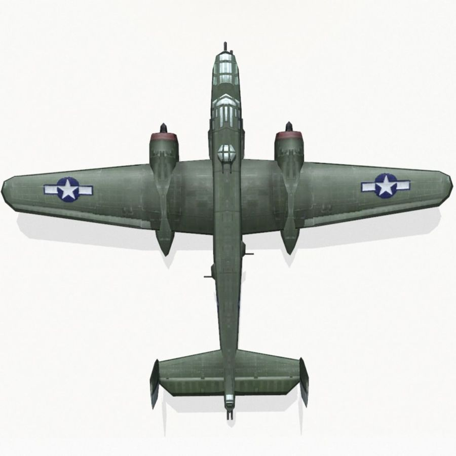 B-25 Mitchell royalty-free 3d model - Preview no. 9