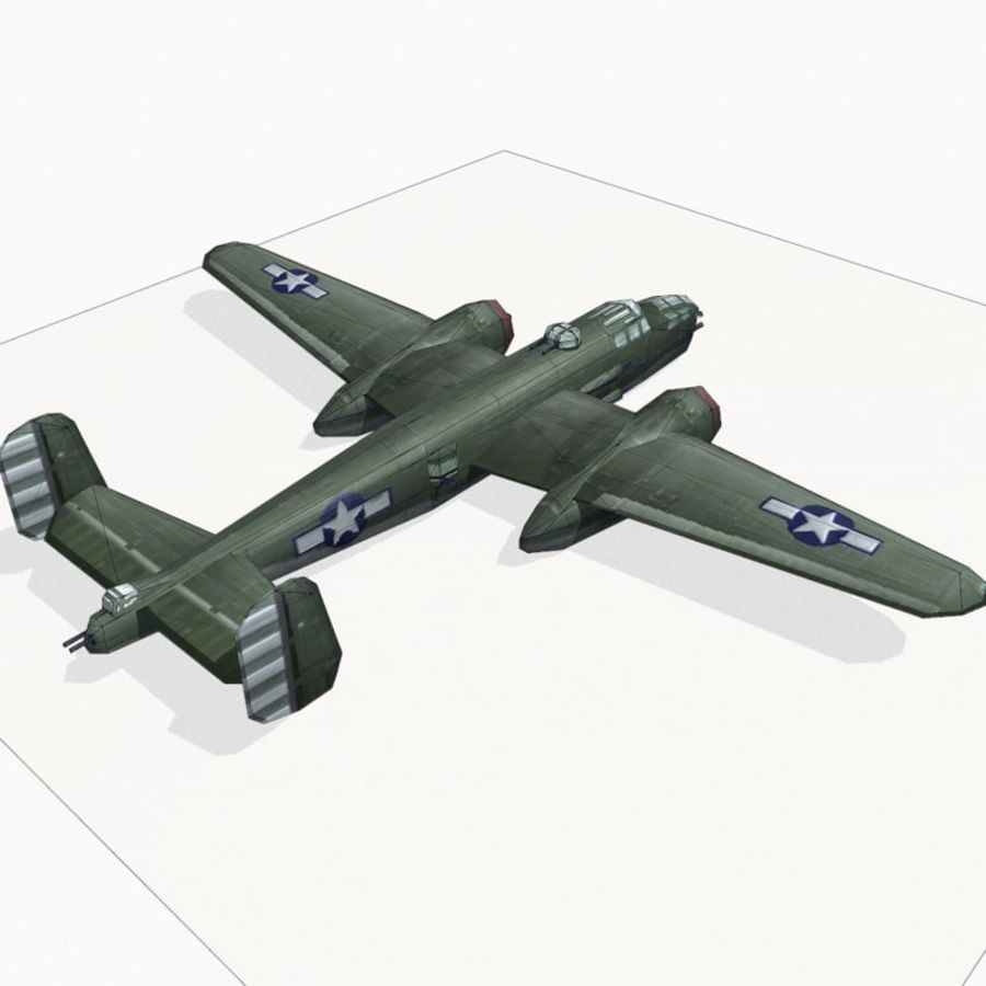 B-25 Mitchell royalty-free 3d model - Preview no. 13