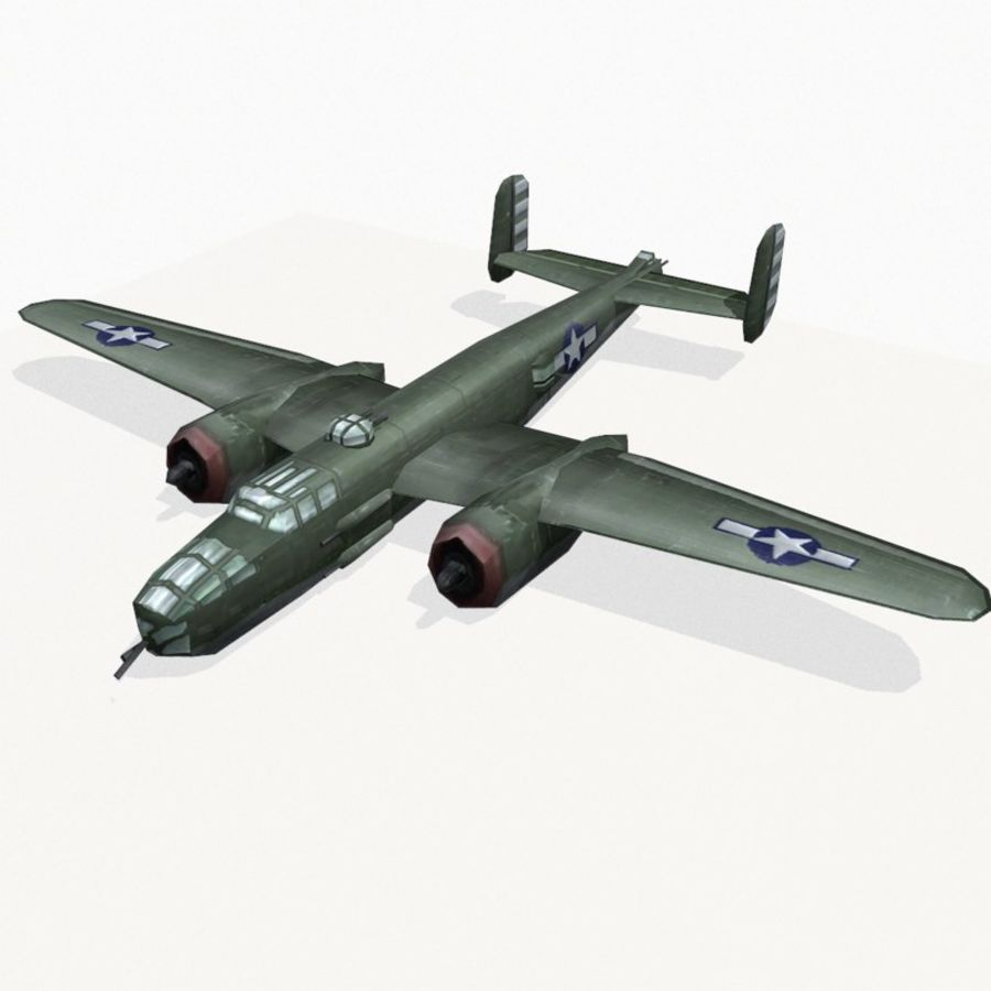 B-25 Mitchell royalty-free 3d model - Preview no. 3
