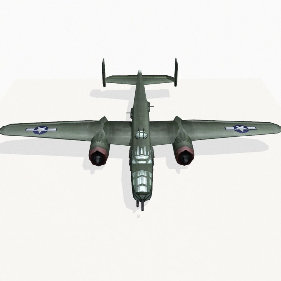 B-25 Mitchell royalty-free 3d model - Preview no. 8