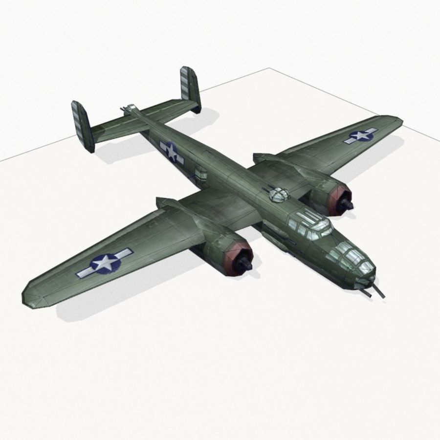 B-25 Mitchell royalty-free 3d model - Preview no. 14