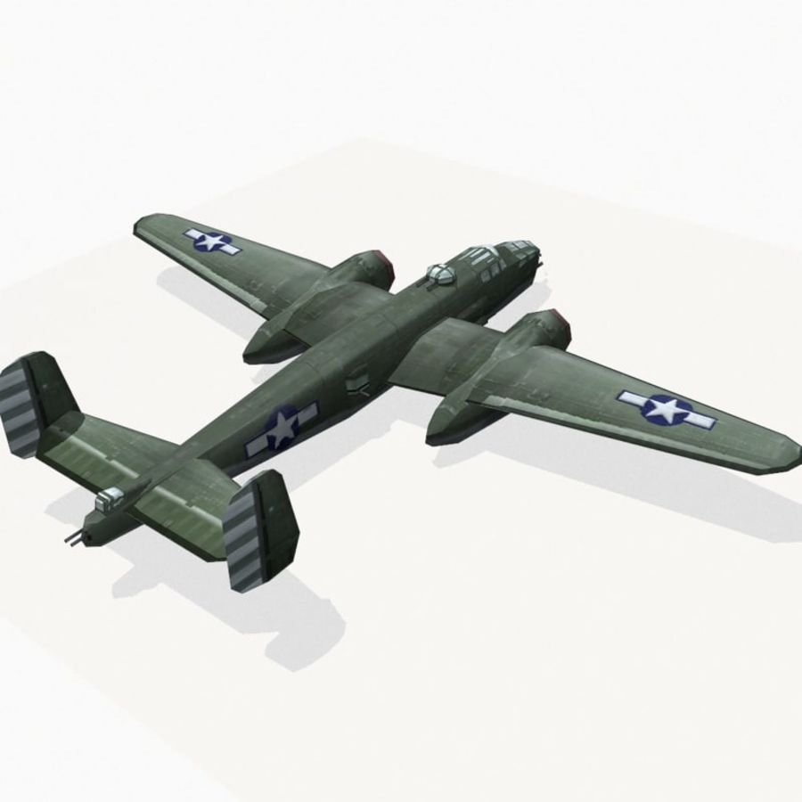 B-25 Mitchell royalty-free 3d model - Preview no. 5