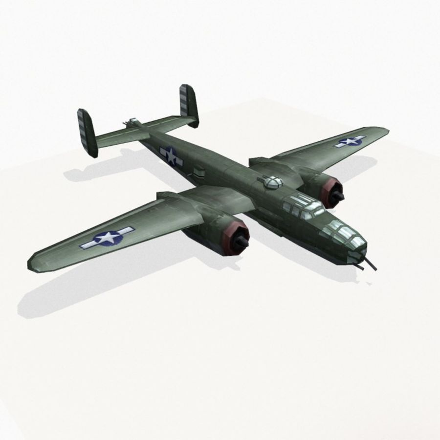 B-25 Mitchell royalty-free 3d model - Preview no. 6