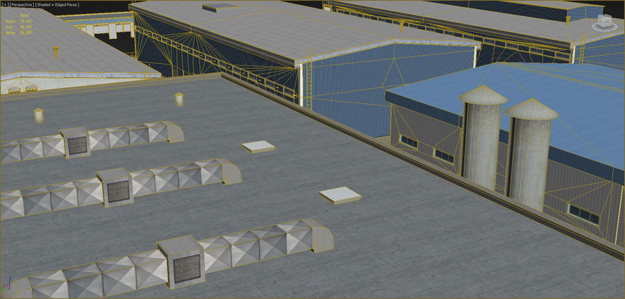 Industrial buildings set 2 royalty-free 3d model - Preview no. 10