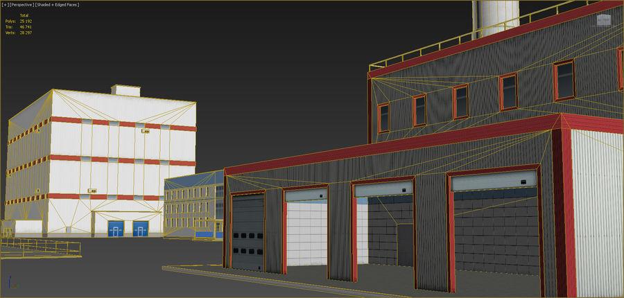 Conjunto de edificios industriales 2. royalty-free modelo 3d - Preview no. 14