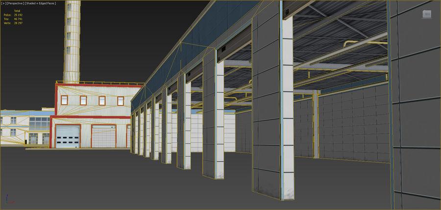 Conjunto de edificios industriales 2. royalty-free modelo 3d - Preview no. 19