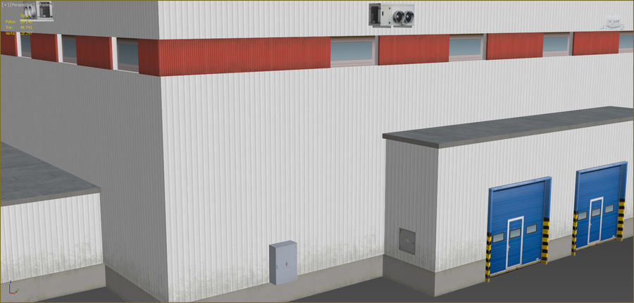 Industrial buildings set 2 royalty-free 3d model - Preview no. 7