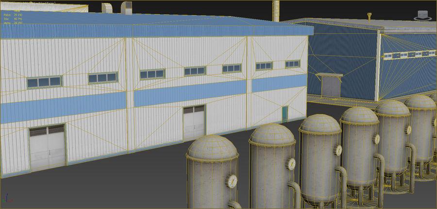 Conjunto de edificios industriales 2. royalty-free modelo 3d - Preview no. 12