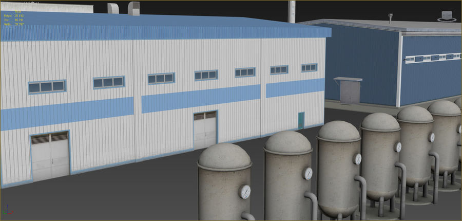 Industrial buildings set 2 royalty-free 3d model - Preview no. 11