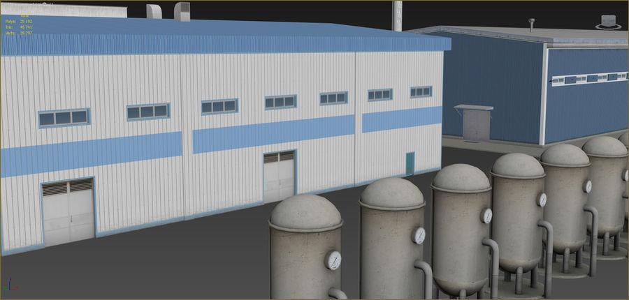 Conjunto de edificios industriales 2. royalty-free modelo 3d - Preview no. 11