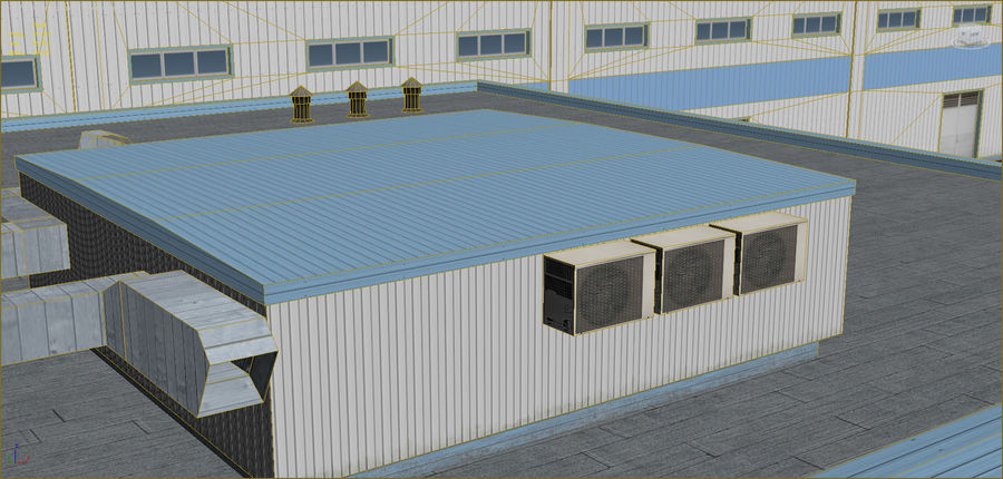 Industrial buildings set 2 royalty-free 3d model - Preview no. 21