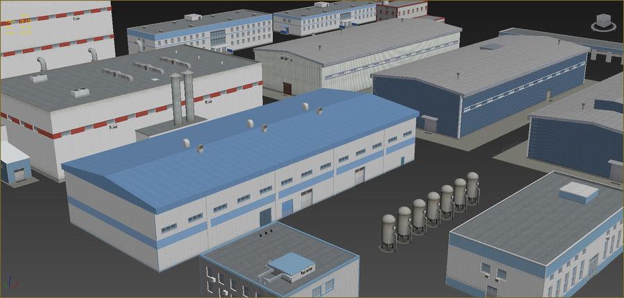 Conjunto de edificios industriales 2. royalty-free modelo 3d - Preview no. 3