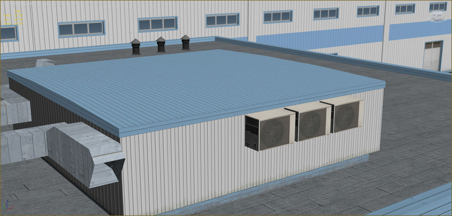 Industrial buildings set 2 royalty-free 3d model - Preview no. 20