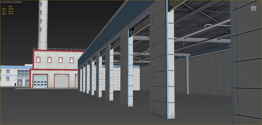Conjunto de edificios industriales 2. royalty-free modelo 3d - Preview no. 18