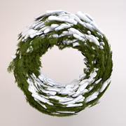 Wreath with Snow 3d model