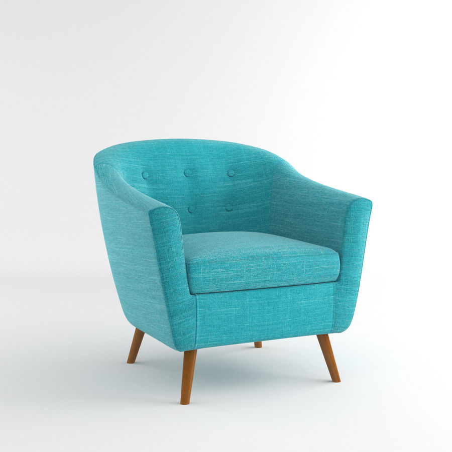 Rockwell Accent Chair Lumisource Royalty Free 3d Model   Preview No. 1