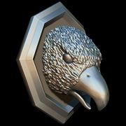 Bird head sculpture trophy 3d model