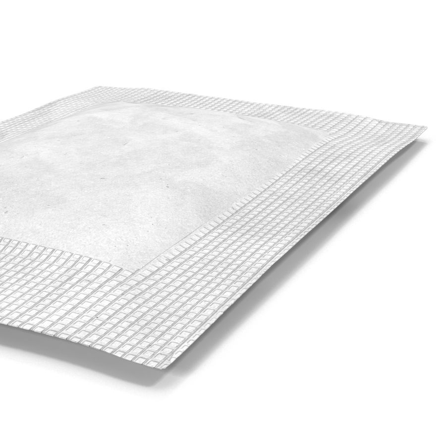 Sugar Packet 2 White royalty-free 3d model - Preview no. 10