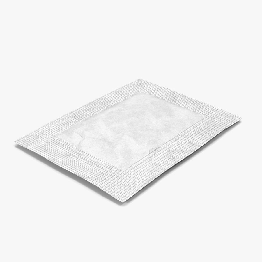 Sugar Packet 2 White royalty-free 3d model - Preview no. 1