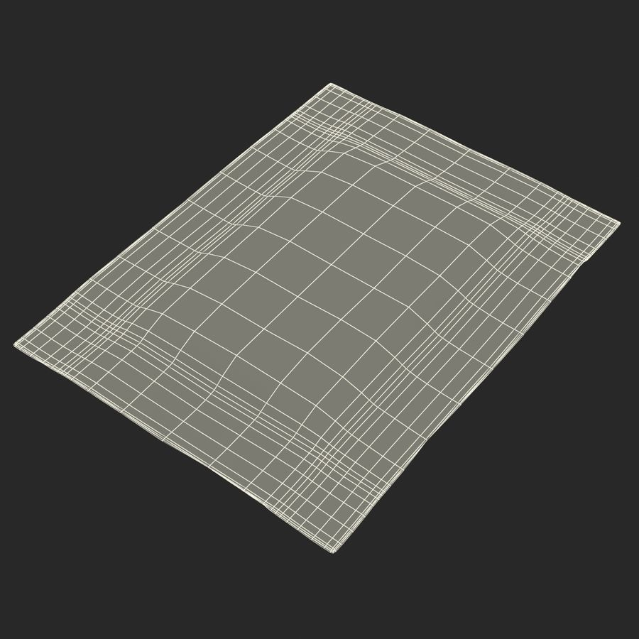 Sugar Packet 2 White royalty-free 3d model - Preview no. 18
