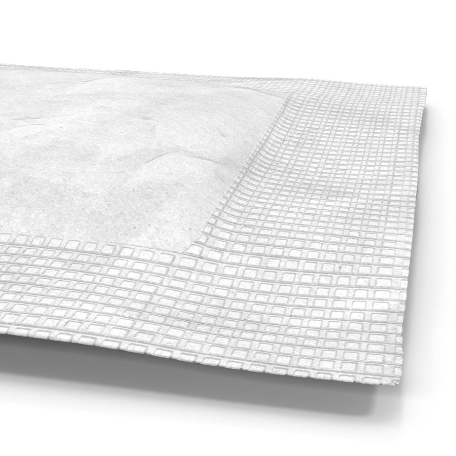 Sugar Packet 2 White royalty-free 3d model - Preview no. 11