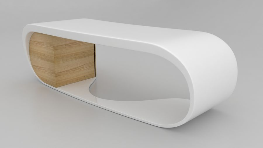 Goggle Office Desk royalty-free modelo 3d - Preview no. 3