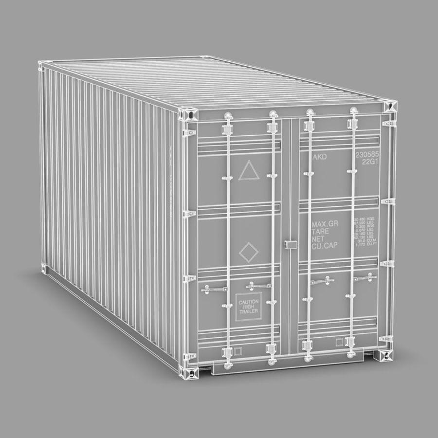 运输容器 royalty-free 3d model - Preview no. 10