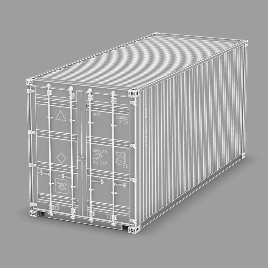 运输容器 royalty-free 3d model - Preview no. 8