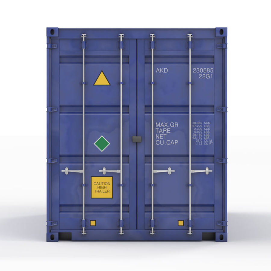运输容器 royalty-free 3d model - Preview no. 3