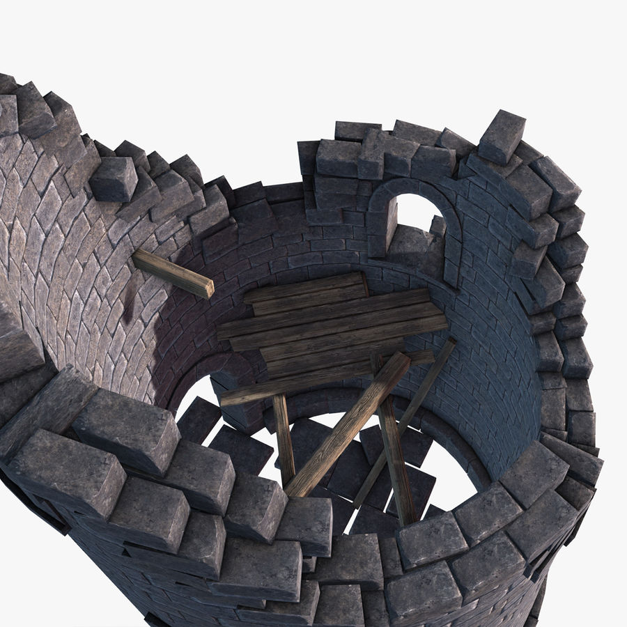 Ruined Tower royalty-free 3d model - Preview no. 7