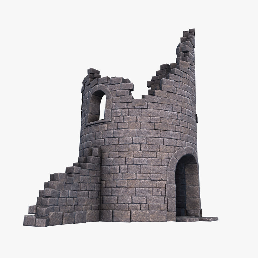 Ruined Tower royalty-free 3d model - Preview no. 1