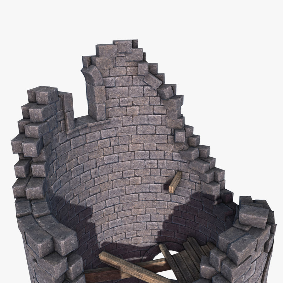 Ruined Tower royalty-free 3d model - Preview no. 6
