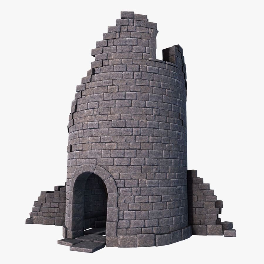 Ruined Tower royalty-free 3d model - Preview no. 2