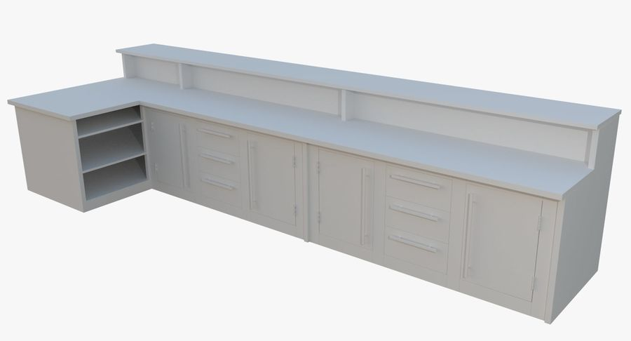 Kitchen counter one royalty-free 3d model - Preview no. 2