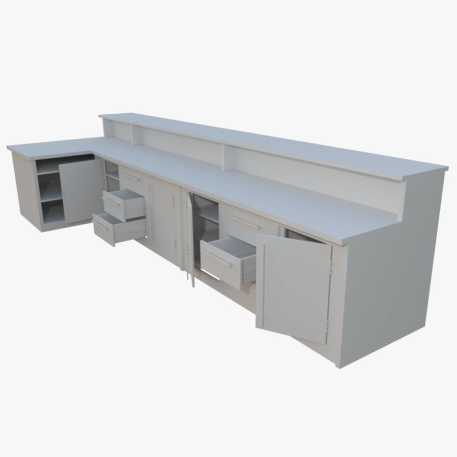 Kitchen counter one royalty-free 3d model - Preview no. 1